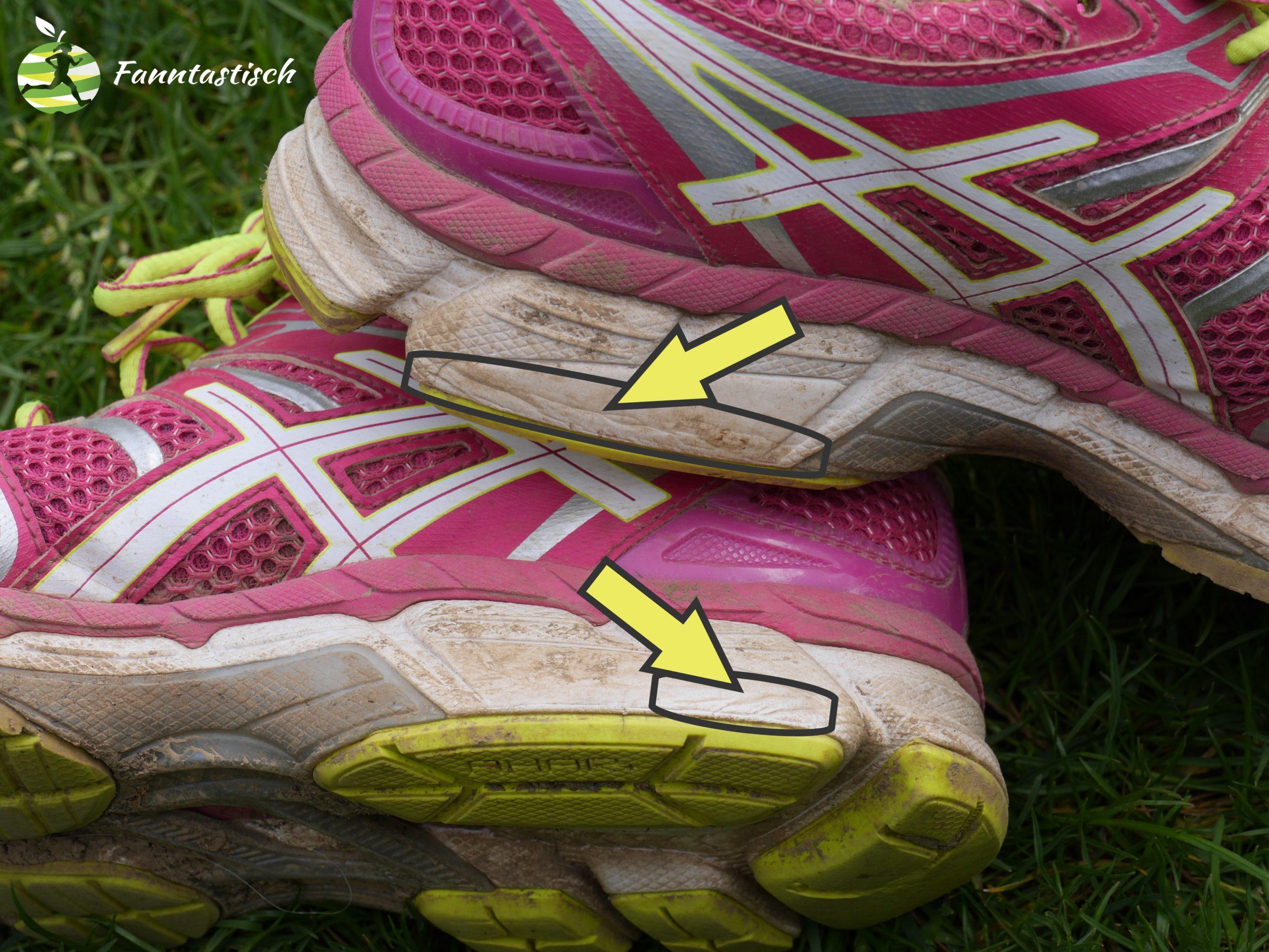 Laufschuh mit defekter Dämpfung